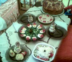 Коледна салата часовник