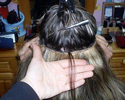 Удължаване на косата чрез зашиване