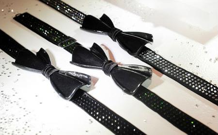 Вратовръзка от въглеродни влакна с кристали Сваровски за мъже и жени