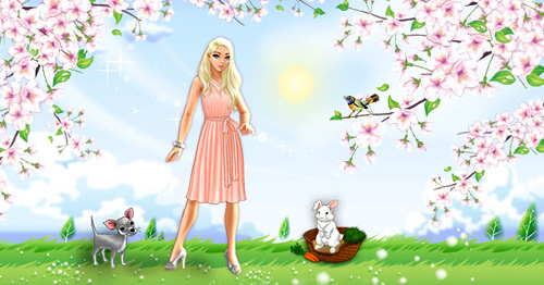 Забавлявайте се с Lady Popular - безплатна онлайн игра за супер момичета