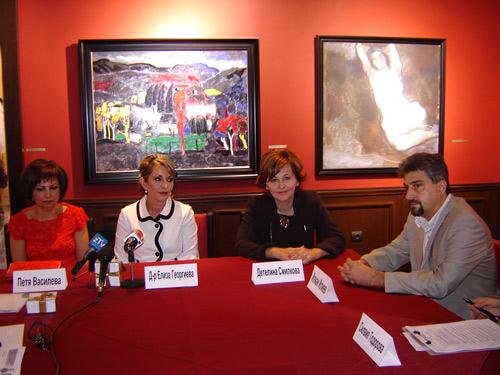 Петя Василева, д-р Елиза Георгиева, Детелина Смилкова и Илиан Илиев – част от участниците в пресконференцията