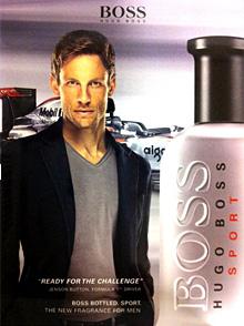 Дженсън Бътън стана рекламно лице на Hugo Boss