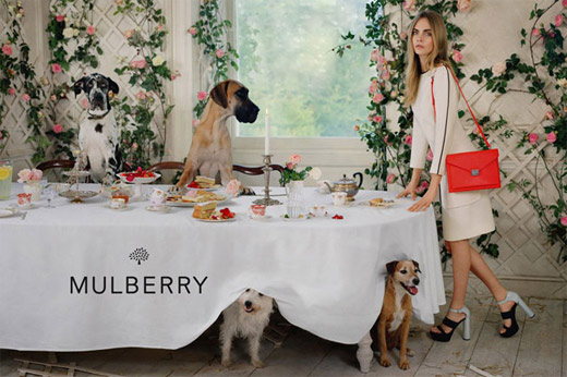 Кара Делевин е новото рекламно лице на Mulberry