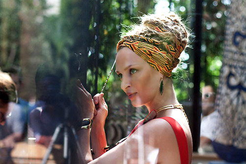 Uma Thurman is the face of Campari Calendar 2014