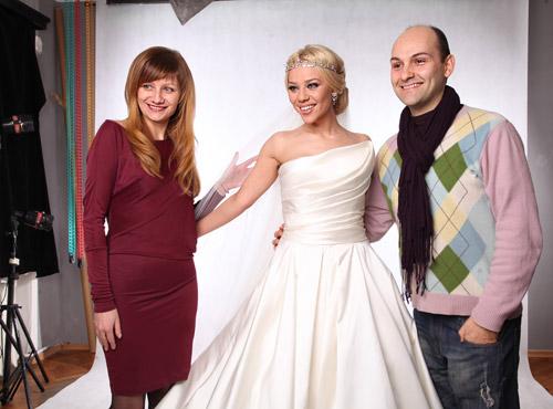 Певицата Гергана стана булка с тоалетите на Bridal Fashion