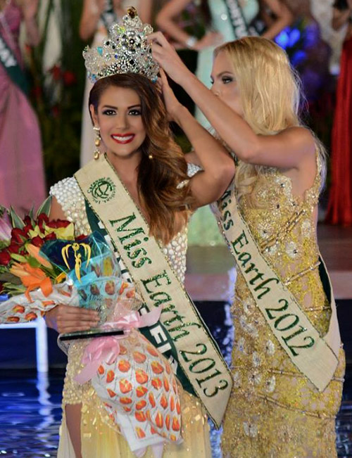 The crown of Miss Earth 2013 is for Venezuela