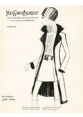 Yves Saint Laurent sketches on the Internet