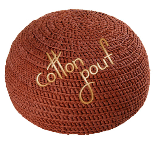 Hand knitted poufs, toys and accessories by Cotton Pouf