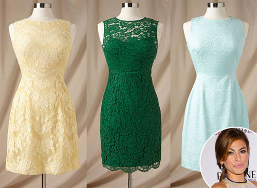 Ева Мендес с колекция рокли за шаферки