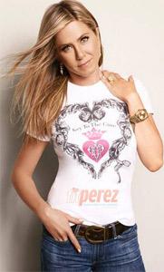 Дженифър Анистън и нейните тениски