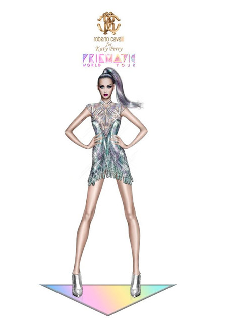 Katy Perry will be wearing Roberto Cavalli and Valentino during her tour