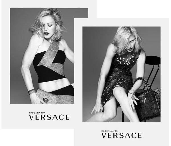 Мадона отново е лице на Versace