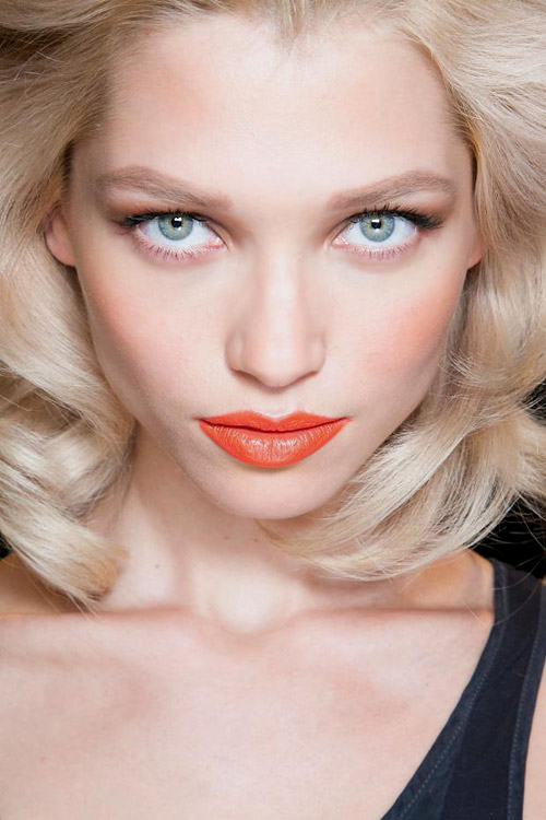 Spring-Summer 2014 fashion trends: Orange lips