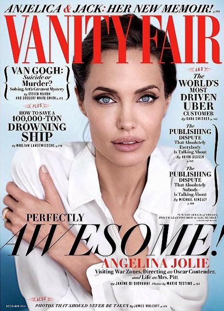 Анджелина Джоли и Марио Тестино за корицата на Vanity Fair