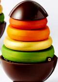Удоволствие за сетивата: Цветно шоколадово великденско яйце
