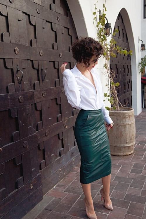 Хит тенденция: кожена пола