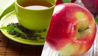Ябълка и зелен чай прогонват рак и инфаркт