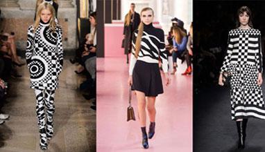 Модни тенденции Есен/Зима 2015-2016: Черно-бяла графика
