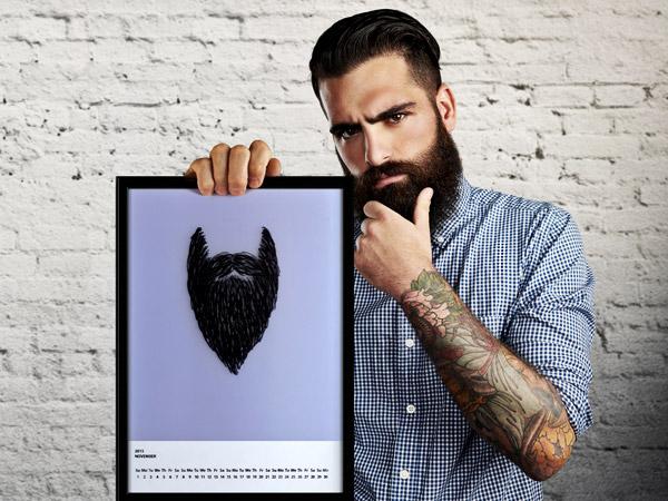Оригинално: Календар с растяща брада