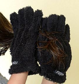 Ново: Сушащи косата ръкавици