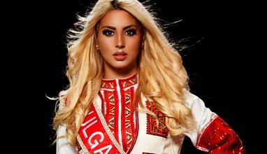 Лидия Иванова с българска народна носия за Queen of the Universe