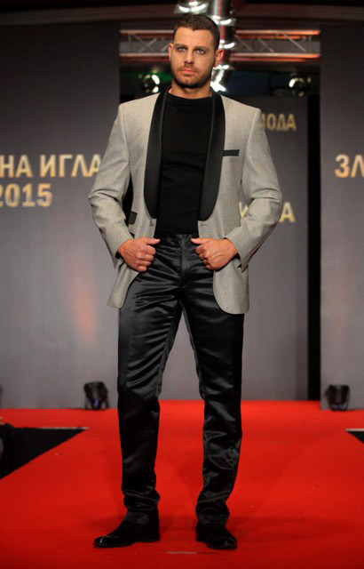 Richmart shows a men's suits collection during the Sofia Fashion Week 2015