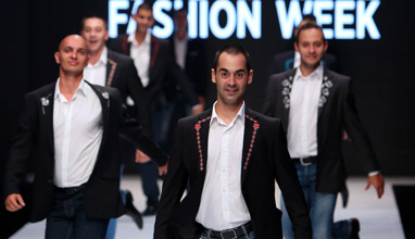 Richmart presented men's suits with Bulgarian embroidery with unique dancing show at Sofia Fashion Week 2015
