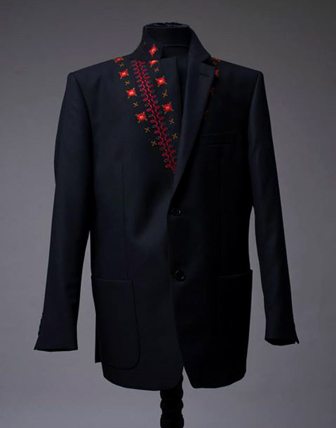 Fashion trends: Men's suit jackets with Bulgarian folklore motifs by Richmart