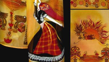 Българският фолклор в модата: Рисувани шалове на Таня Иванова