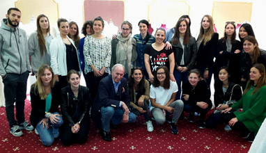 Студенти от престижно училище за мода и дизайн в Париж на посещение при топ дизайнера София Борисова