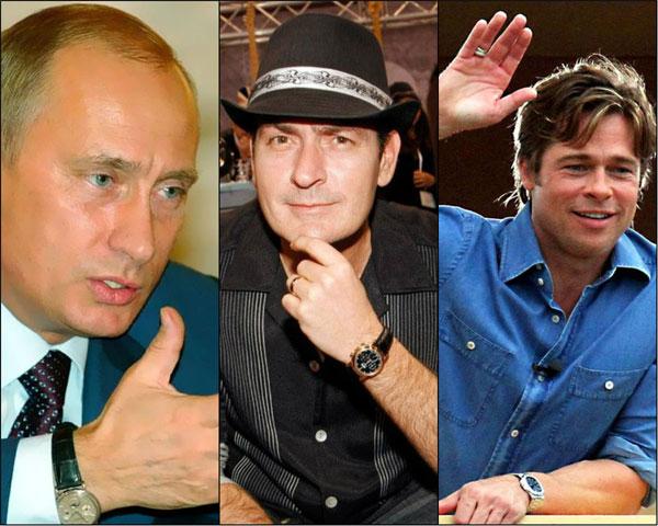 Владимир Путин, Чарли Шийн и Брад Пит споделят вкус за милиони