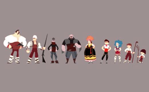 Български анимационен сериал, чиито  герои са облечени с носии