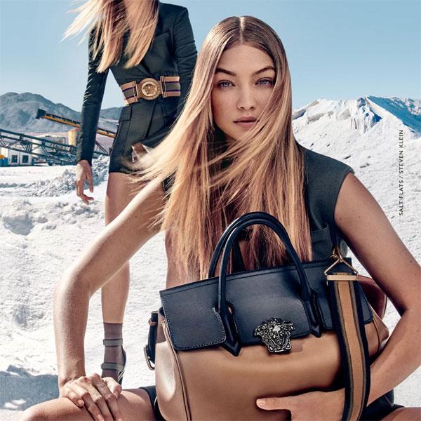 Топ моделът Джиджи Хадид с нетрадиционна фотосесия за Versace
