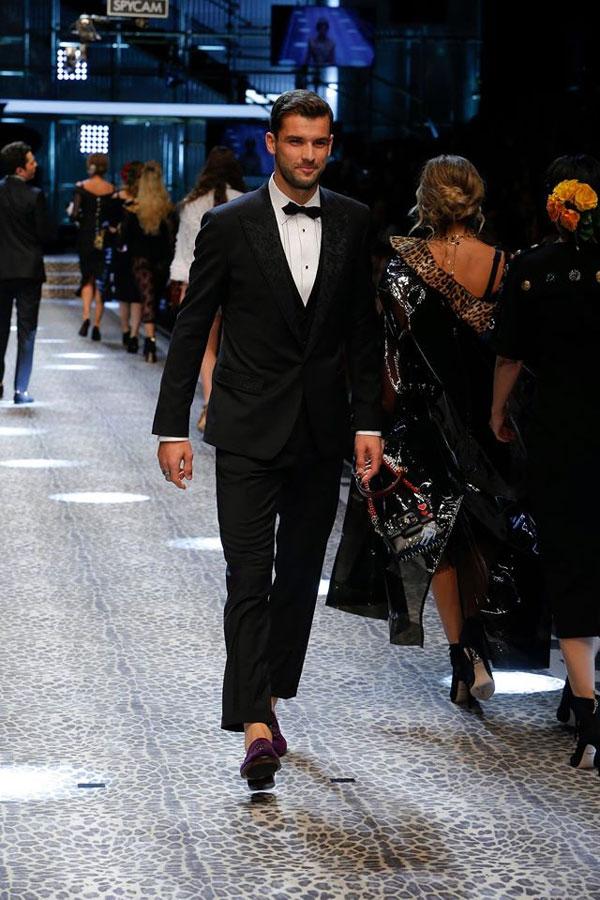 Тенесист номер 1 на България - Григор Димитров с участие в ревю на Dolce and Gabbana