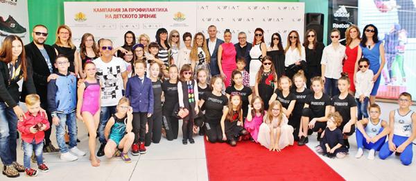 Спортисти и известни личности с децата си подкрепиха кампанията на KWIAT за детското зрение