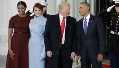 Мелания с рокля на Ралф Лорън при встъпването в длъжност на Доналд Тръмп