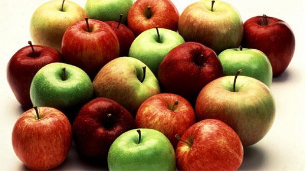 Разликата между жълтата, червената и зелена ябълка
