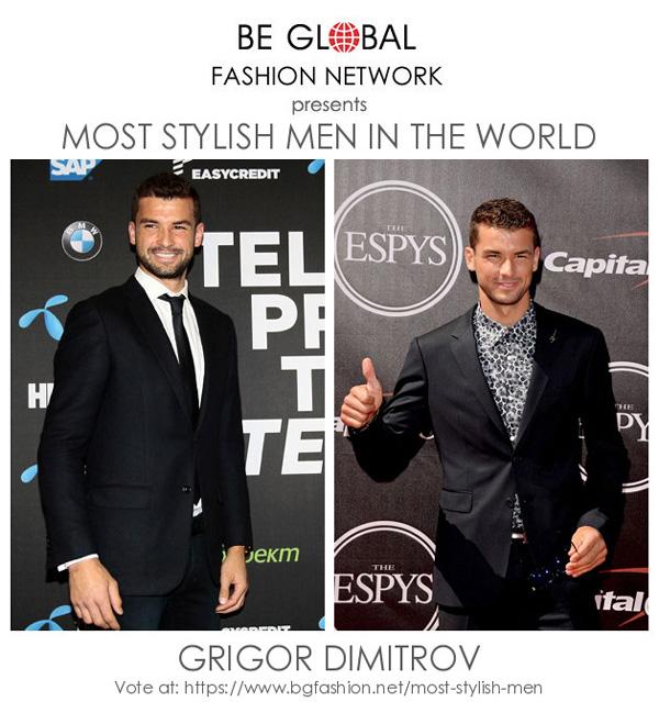 Григор Димитров е сред финалистите в световен конкурс за мода