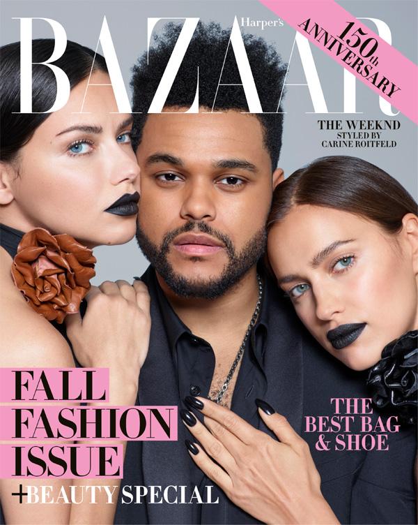 Стилна фотосесия в черно за новия брой на Harper's Bazaar