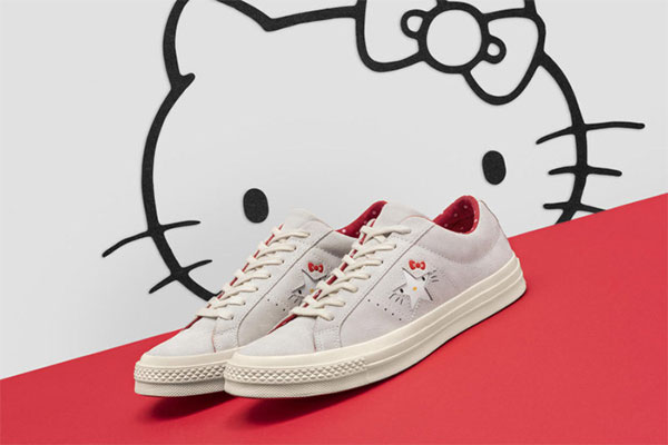 Hello Kitty в колаборация с Converse - една закачлива колекция