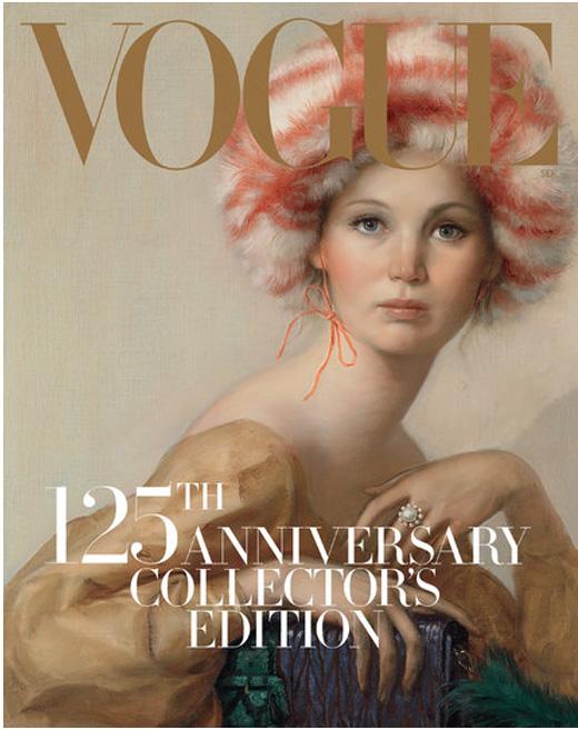 Дженифър Лоурънс в картина за корица на Vogue