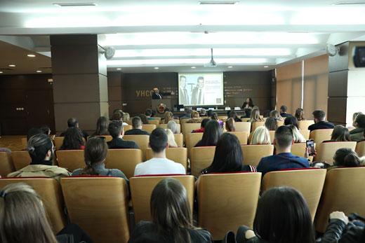 """Част от аудиторията в зала """"Тържествена"""" по време на лекцията на Алберто Веделаго."""