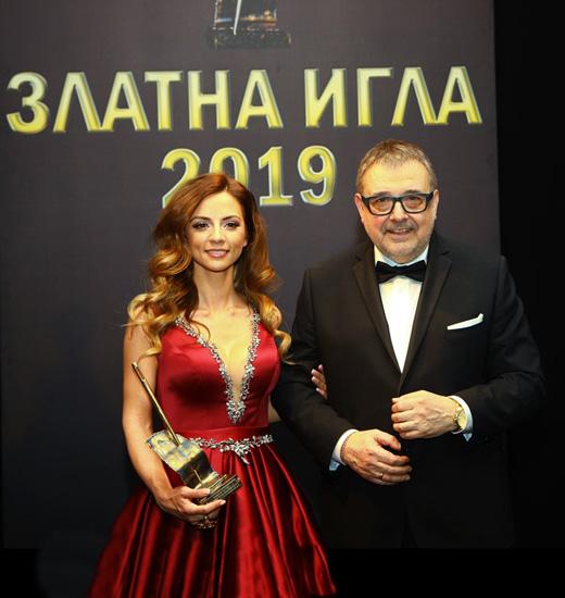 Радослава Лазарова и проф. Любомир Стойков.