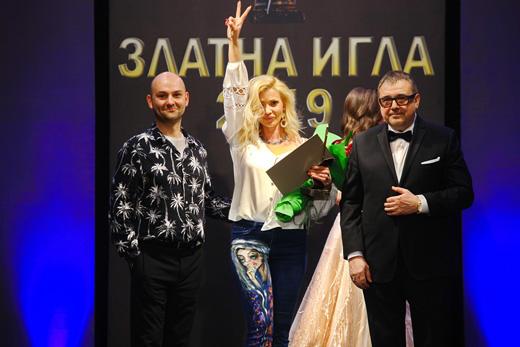 Кирил  Чалъков, Джулия Ангелова и проф. Любомир Стойков по време на церемонията.