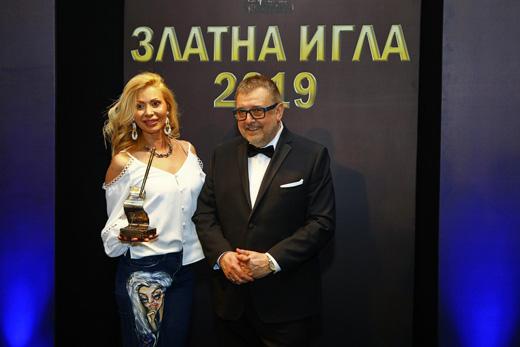 Джулия  Ангелова с проф. Любомир Стойков.