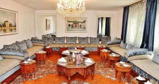 Традиционен интериор в Резиденцията на Кралство Мароко.