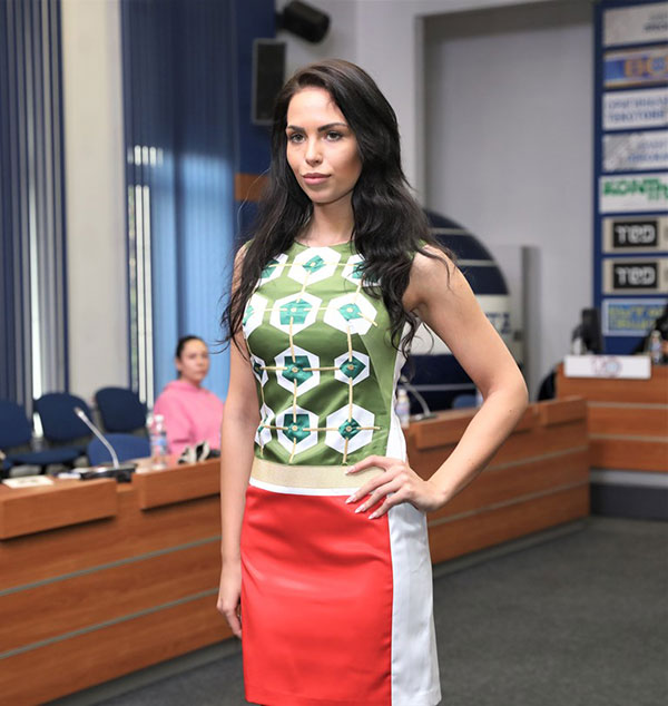 VENETA RAYKOVA TURNS THE LITTLE BLACK DRESS INTO A MODERN GARB