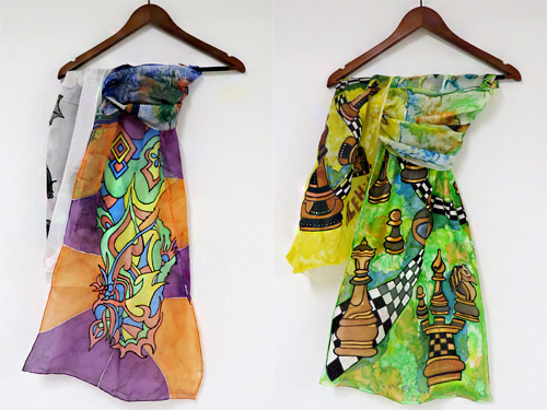 Handmade silk scarves were presented by the Bulgarian Fashion Association in London