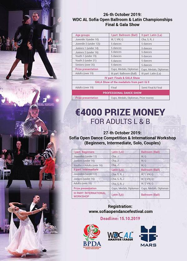 Световни шампиони и звездно жури пристигат за Sofia Open Dance Festival