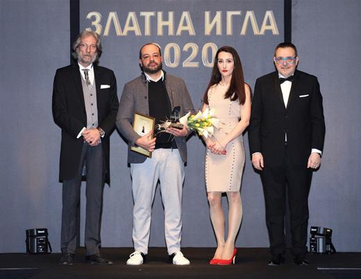 Александър Нишков, Ивомир Пешев, Кристина Манолова и проф. Любомир Стойков (от  ляво надясно)